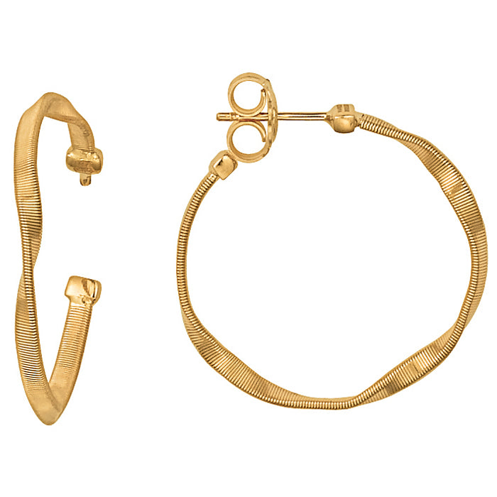 Marco Bicego Marrakech Medium 18K Yellow Gold Hoop Earrings OG255Y