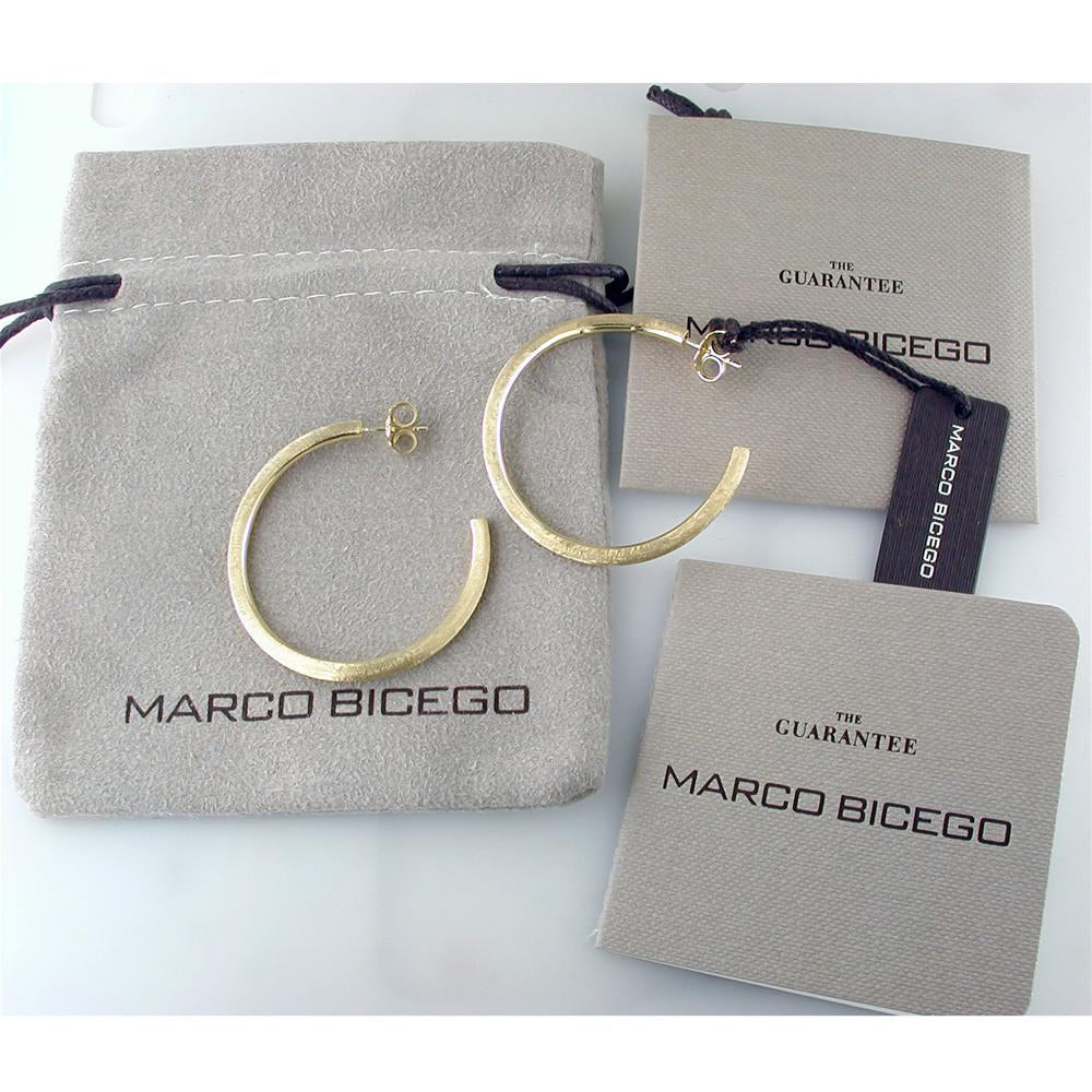 Marco Bicego Jaipur Link 18K Yellow Gold Hoop Earrings OB989Y