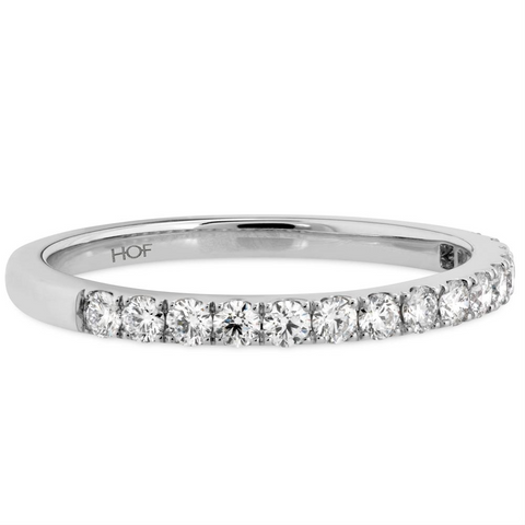 Hearts on Fire Destiny Diamond Wedding Band Ring 18K White Gold