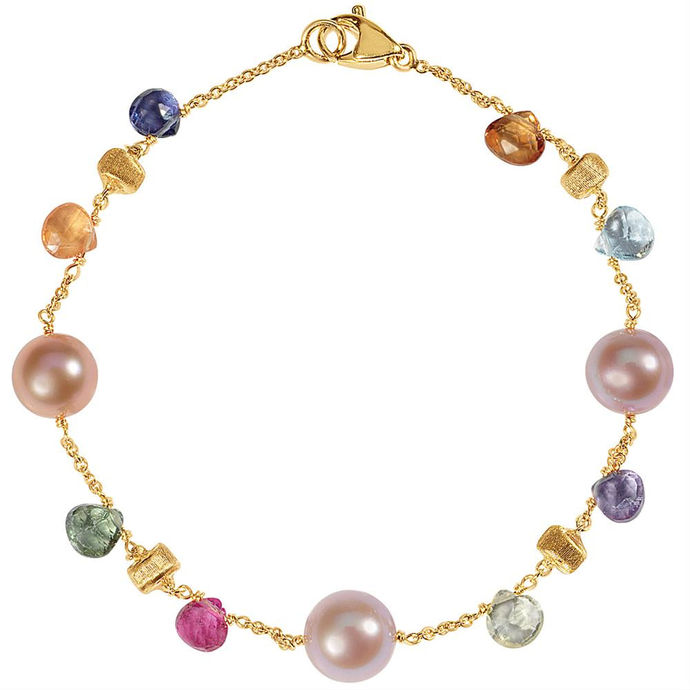 Marco Bicego Paradise Pearl Gemstone Single Strand Bracelet BB1311 MIX114