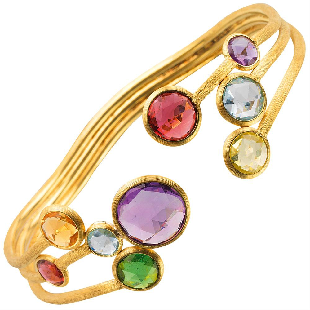 Marco Bicego Jaipur Color Gemstone Yellow Gold Bangle Bracelet SB51