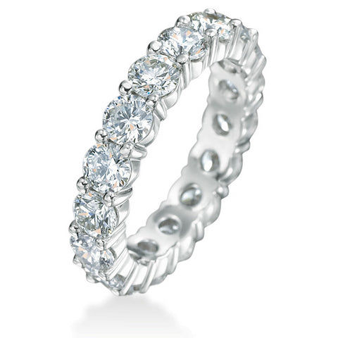 Diamond Eternity Wedding Band Ring 18K White Gold 1.50 carats