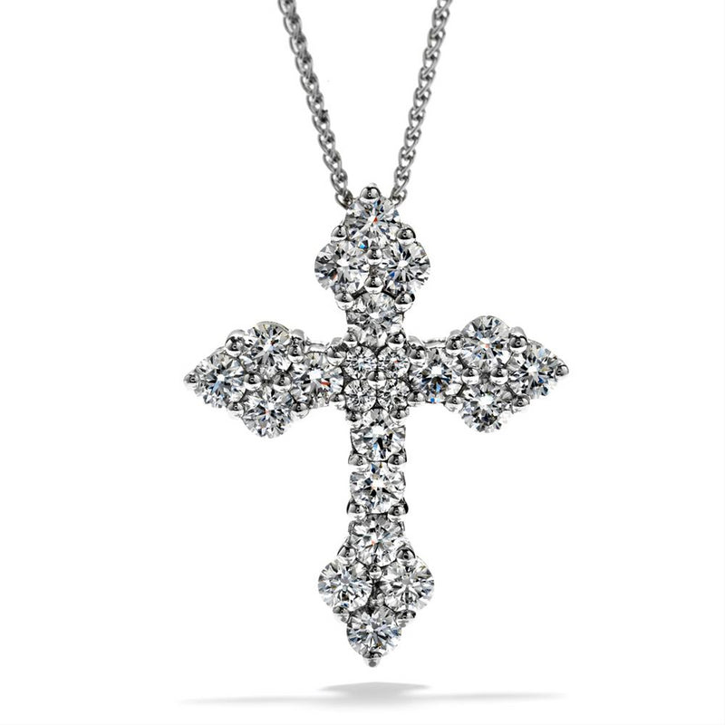 Hearts on Fire Divine Byzantine Diamond Cross Pendant Necklace