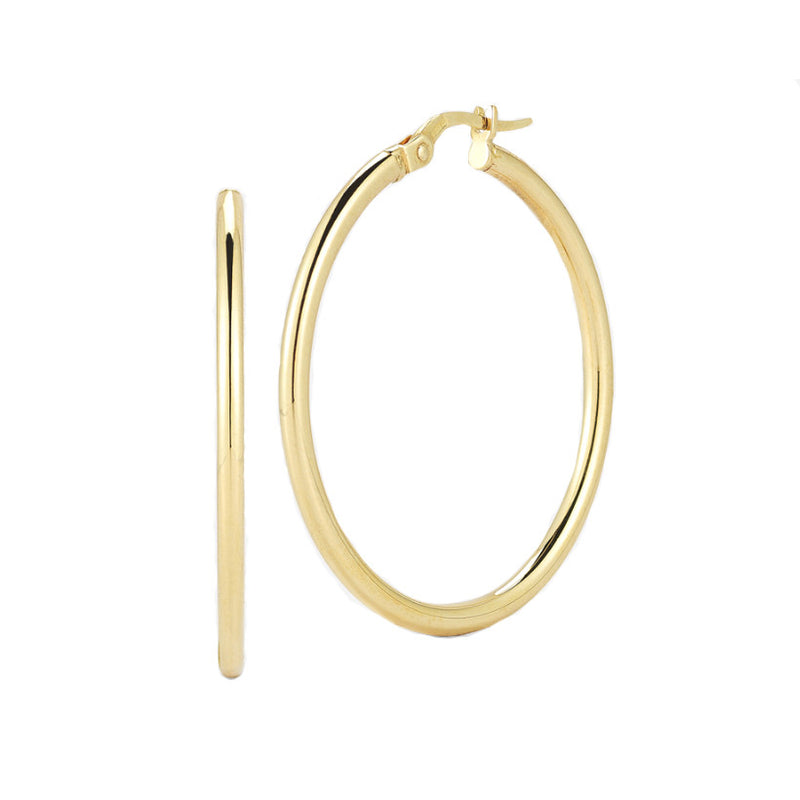 Roberto Coin 18k Yellow Gold 35MM Round Hoop Earrings