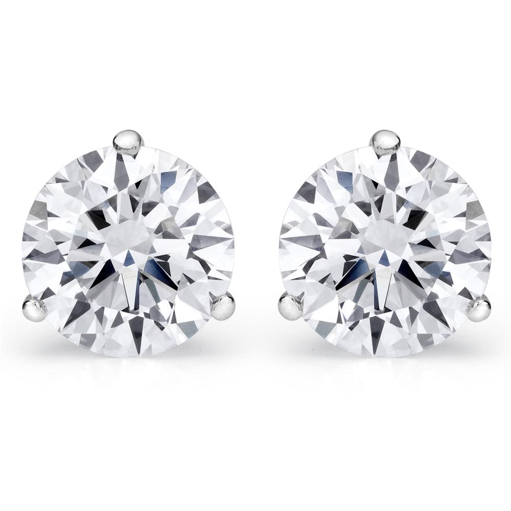 prong studs fine of picture stud fancy jewelry round diamond center stone for