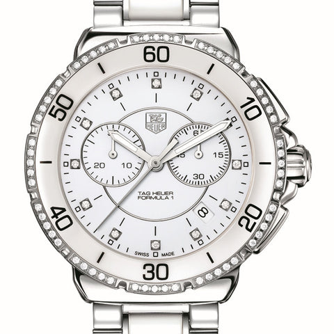 TAG Heuer Formula 1 Steel Ceramic Diamond Chronograph 41mm White Watch CAH1213.BA0863