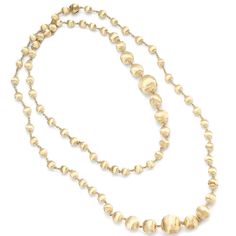 "Marco Bicego Africa 18K Yellow Gold Bead Necklace 36"" CB1417 Y"