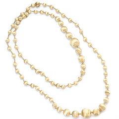 "Marco Bicego Africa 18K Yellow Gold Bead Necklace 36"" CB1417Y"