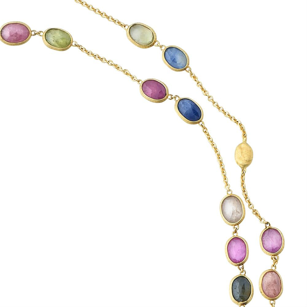 "Marco Bicego Siviglia Gemstone Gold Necklace 36"" CB1511"