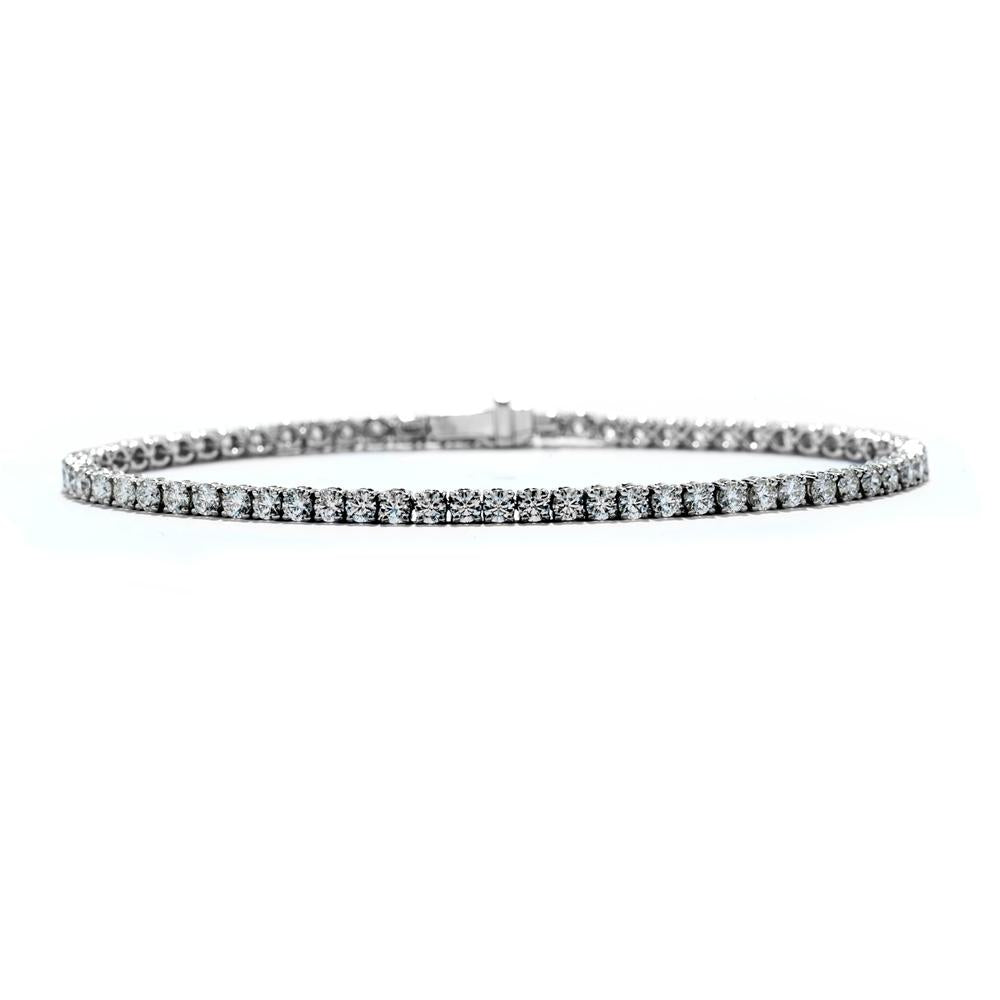 Single Row Prong Set Diamond Tennis Bracelet 3.28ctw 18K