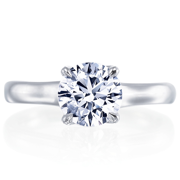 Esplanade Round Diamond Solitaire Diamond Platinum Engagement Ring