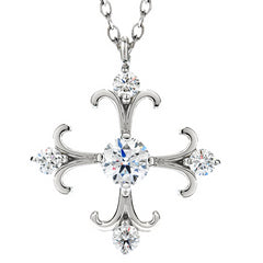 Hearts on Fire Fairy Tale Diamond Cross Pendant Necklace