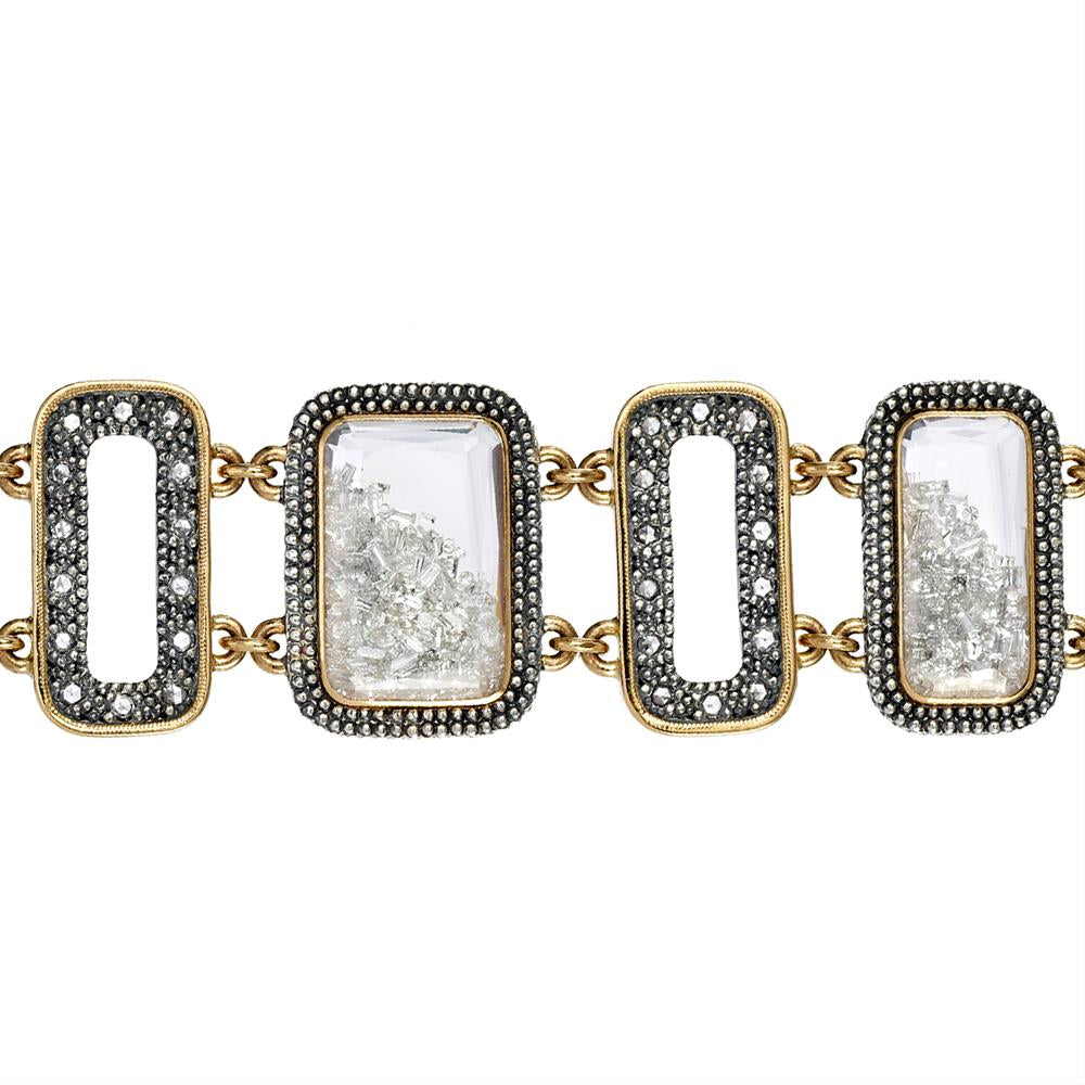 Moritz Glik Rose Cut Floating Diamond Rectangle Bracelet