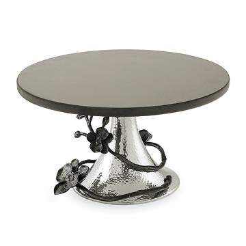 Michael Aram Black Orchid Cake Stand with Black Granite 110730