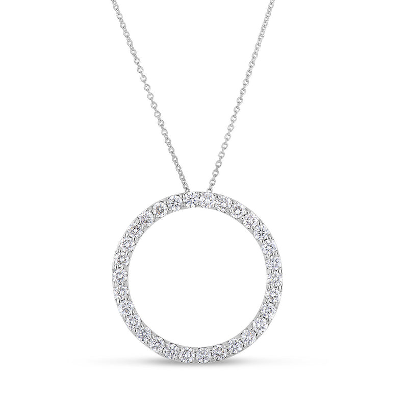 open circle of life pendant by Roberto Coin in 18k White gold