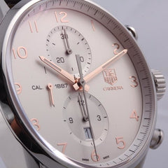 TAG Heuer Carrera Calibre 1887 Automatic Chronograph 43mm Silver Steel Watch CAR2012.BA0799