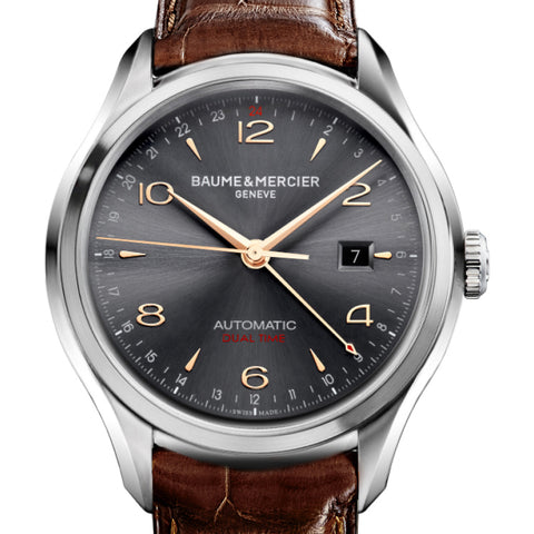 Baume & Mercier Mens 43MM Automatic Clifton Slate Grey Dial Watch 10111