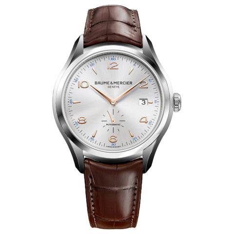 Baume & Mercier 41MM Gents Automatic Silver Dial Clifton Watch 10054