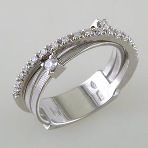 Marco Bicego Goa White Gold Diamond Two Strand Ring AG269 B2W