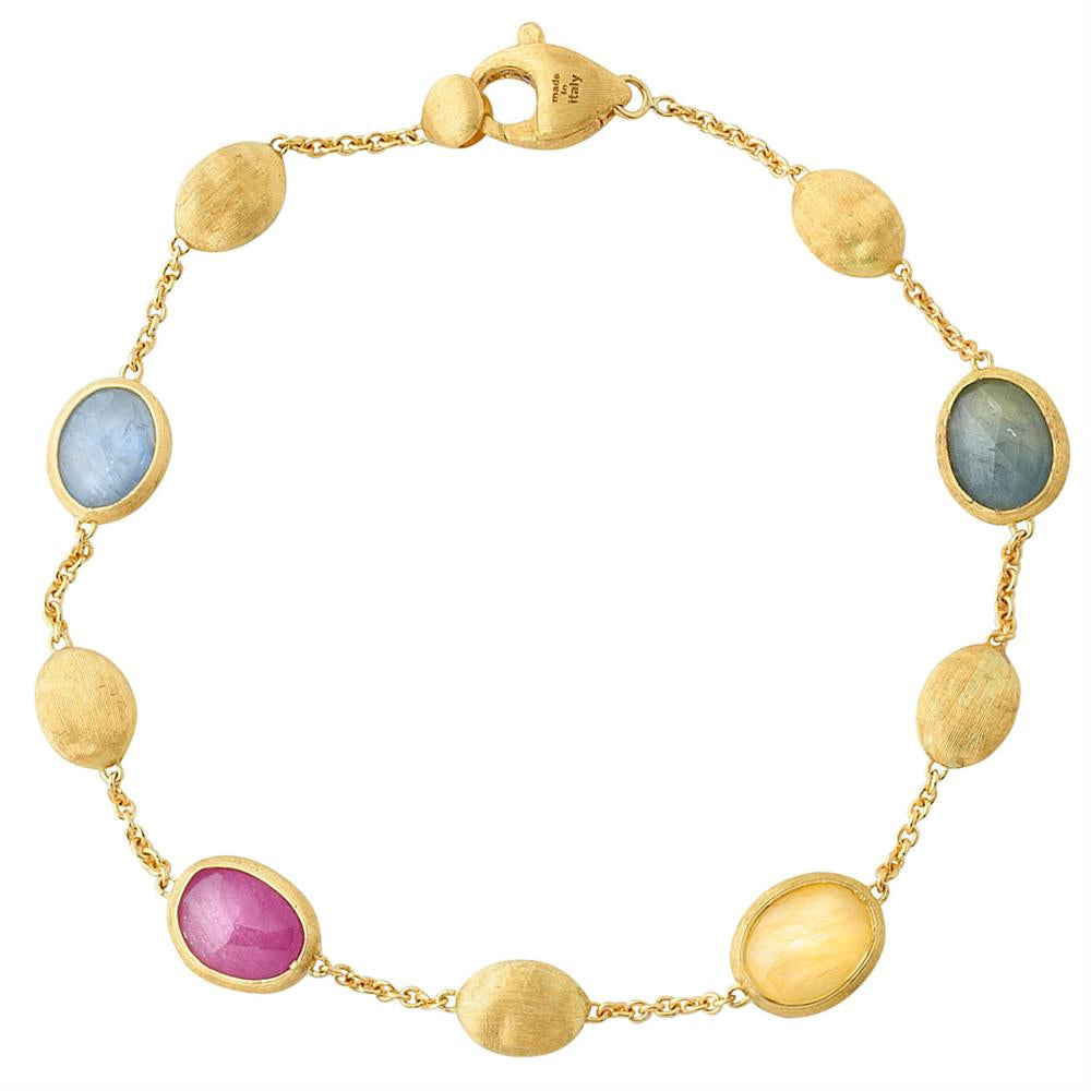 Marco Bicego Siviglia Yellow Gold Sapphire Single Bracelet BB1518 MXZ Y