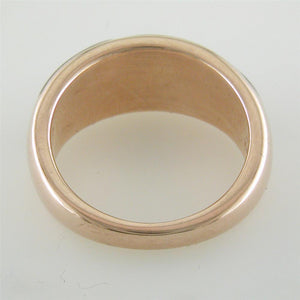 Kabana Black Mother of Pearl Inlay Ring in 14K Rose Gold