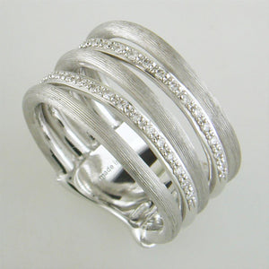 Marco Bicego Jaipur Link White Gold Diamond 5 Row Ring AB479 BW