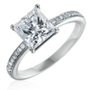 Princess Cut 2.14 Carat GIA Excellent Cut Diamond Platinum Engagement Ring