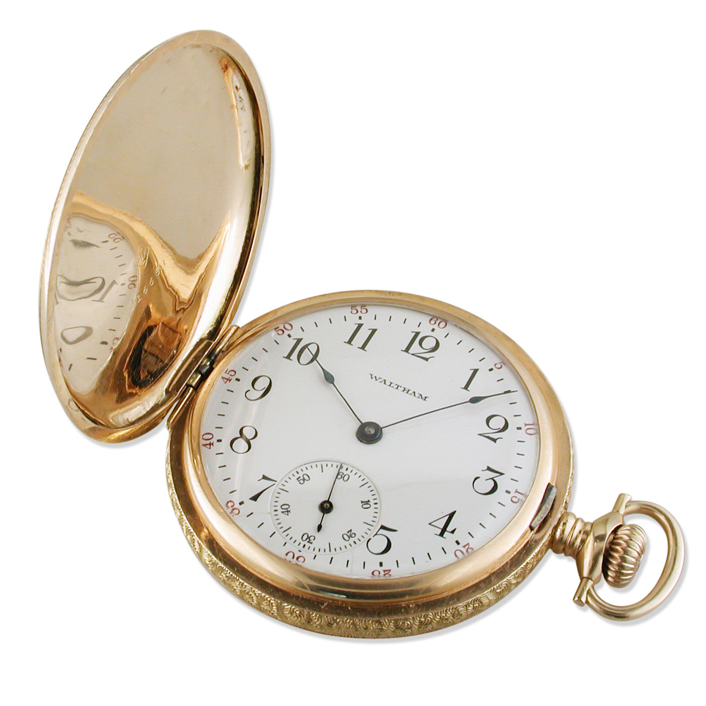 fd493bb1648394 Pre-owned Waltham 14K Yellow Gold Pocket Watch Hunter 16s Year 1913 ...