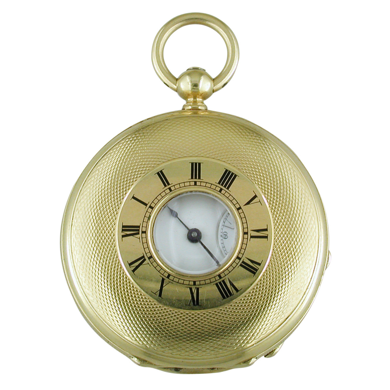 Pre-owned Henry Capt. Geneve 18K Yellow Gold Repeater Pocket Watch Keywind Demi Hunter Case circa 1900