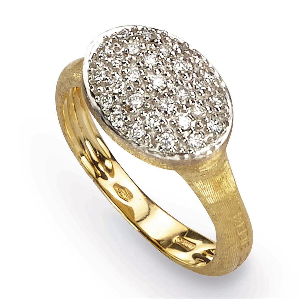 Marco Bicego Siviglia Diamond 18K Yellow Gold Large Ring AB490-B
