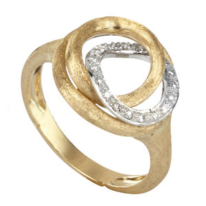 Marco Bicego Jaipur Link Yellow Gold Diamond Circle Ring AB534 BYW