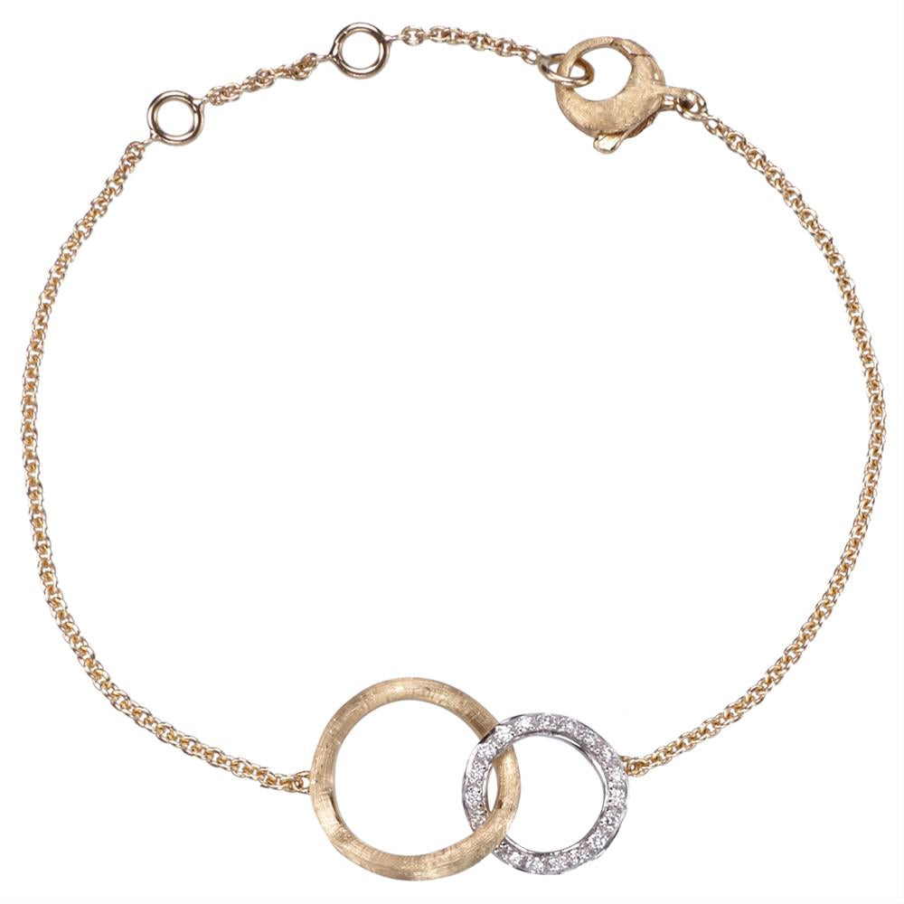 Marco Bicego Jaipur Yellow Gold Link Circle Round Diamond Bracelet