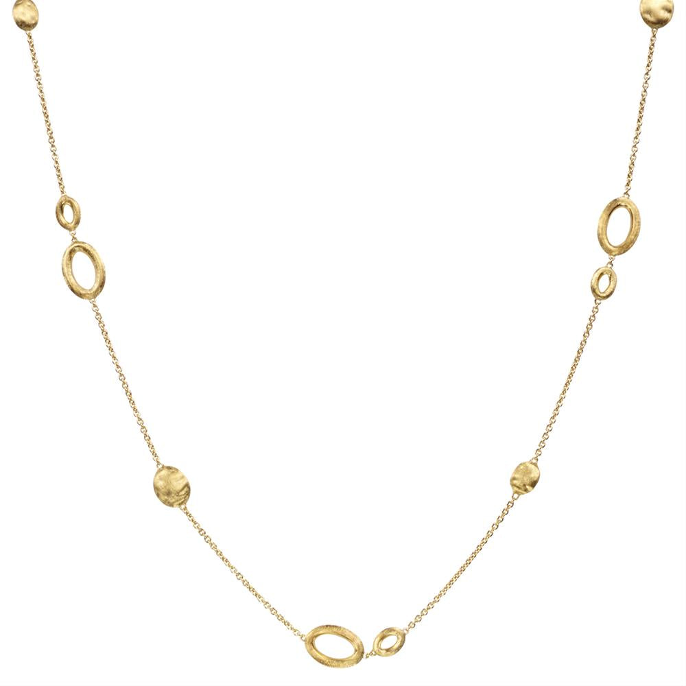 "Marco Bicego Siviglia 18"" Long 18K Yellow Gold Necklace CB1712-Y"