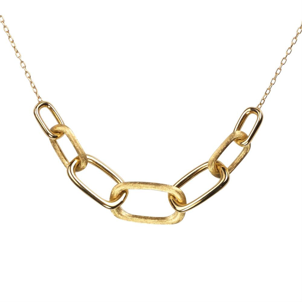 Marco Bicego Murano Link Yellow Gold Rectangle Necklace CB1722