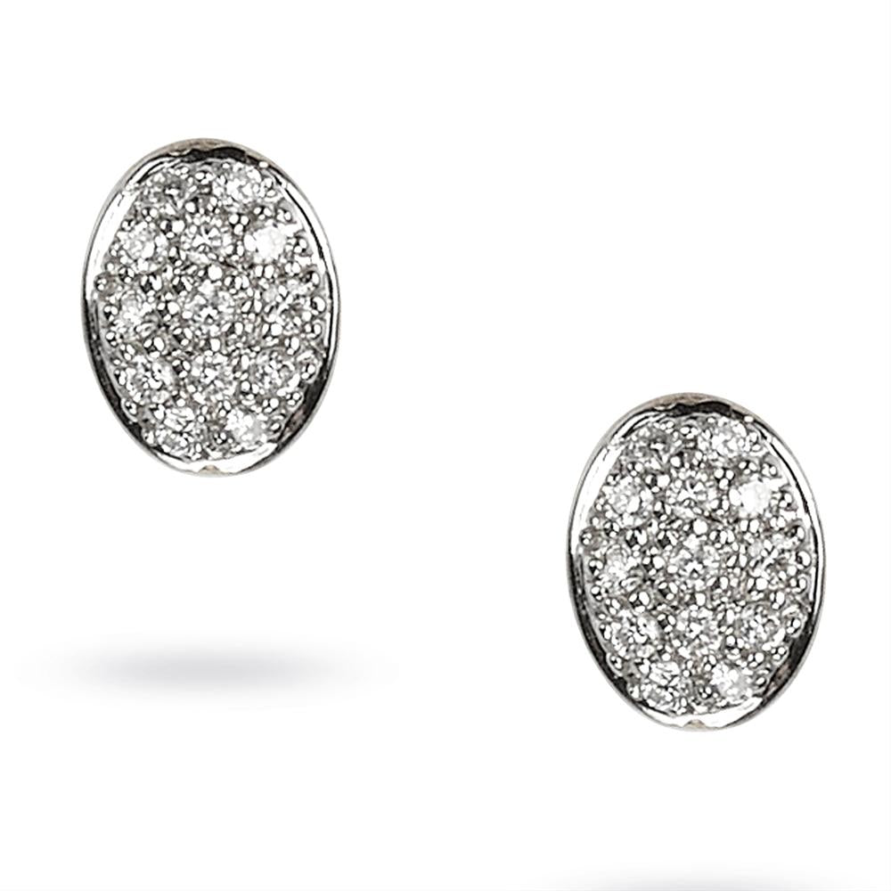 Marco Bicego Siviglia Oval Diamond Button Stud Earrings OB1327-B