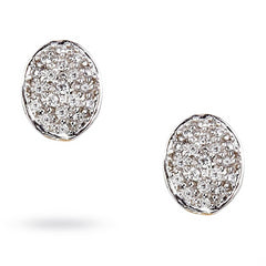 Marco Bicego Siviglia Oval Diamond Button Stud Earrings Large OB620-B1