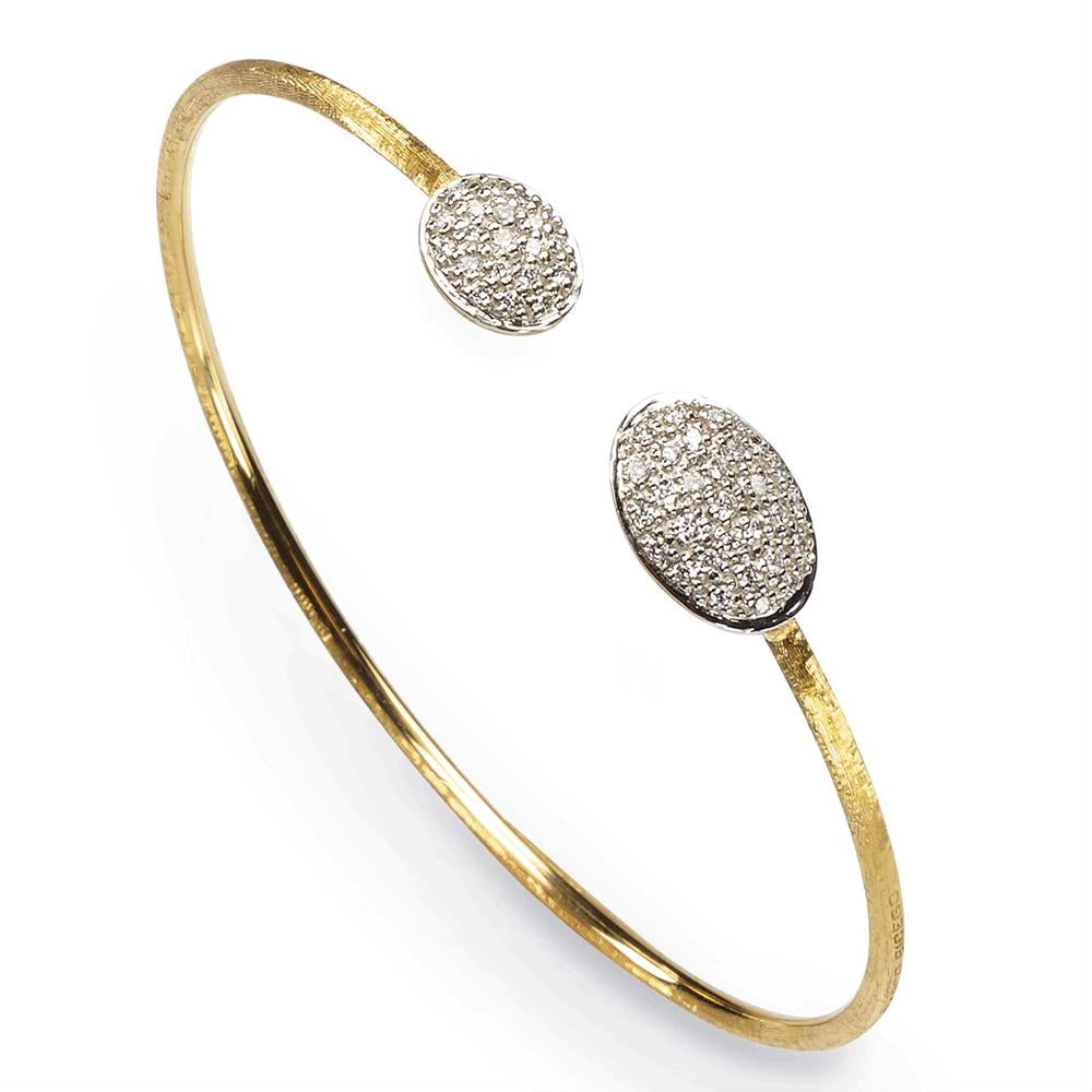 Marco Bicego Siviglia Diamond Yellow Gold Bangle Bracelet SB61-BYW