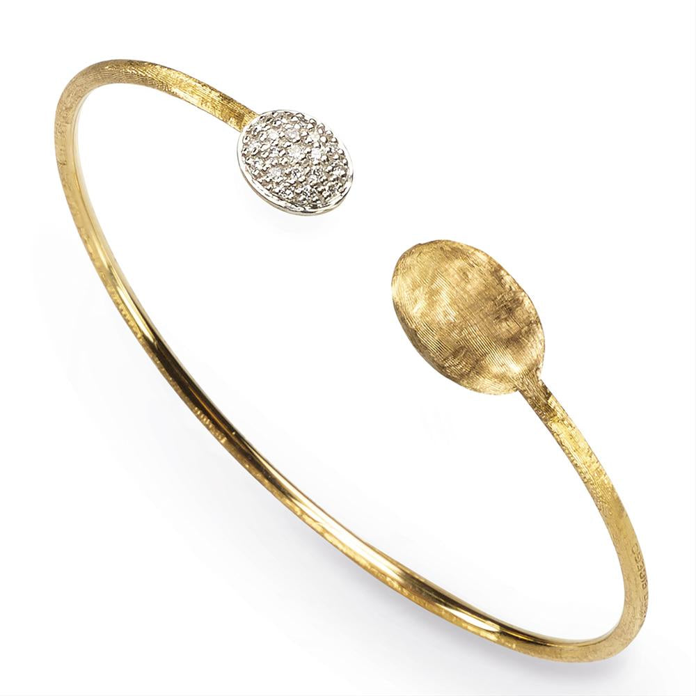Marco Bicego Siviglia Diamond 18K Yellow Gold Bangle Bracelet SB61-B1