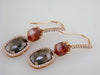 Simon G. Vintage Fancy Reddish-Brown Rose Cut Diamond Drop Earrings ME1715
