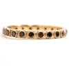 Armenta Yellow Gold Black Diamond Stackable Ring 01349