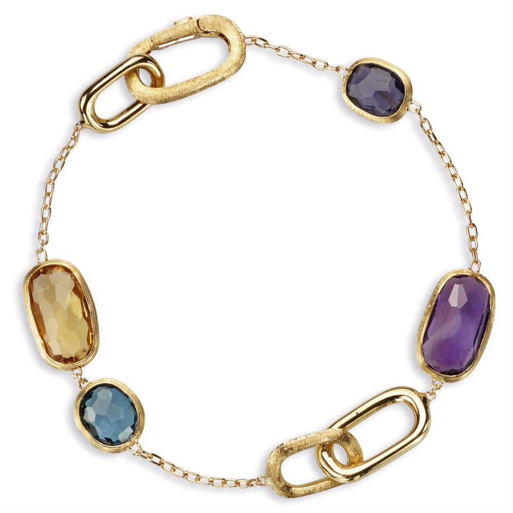 Marco Bicego Murano Rectangle Link Bracelet with Amethyst, Citrine BB1668