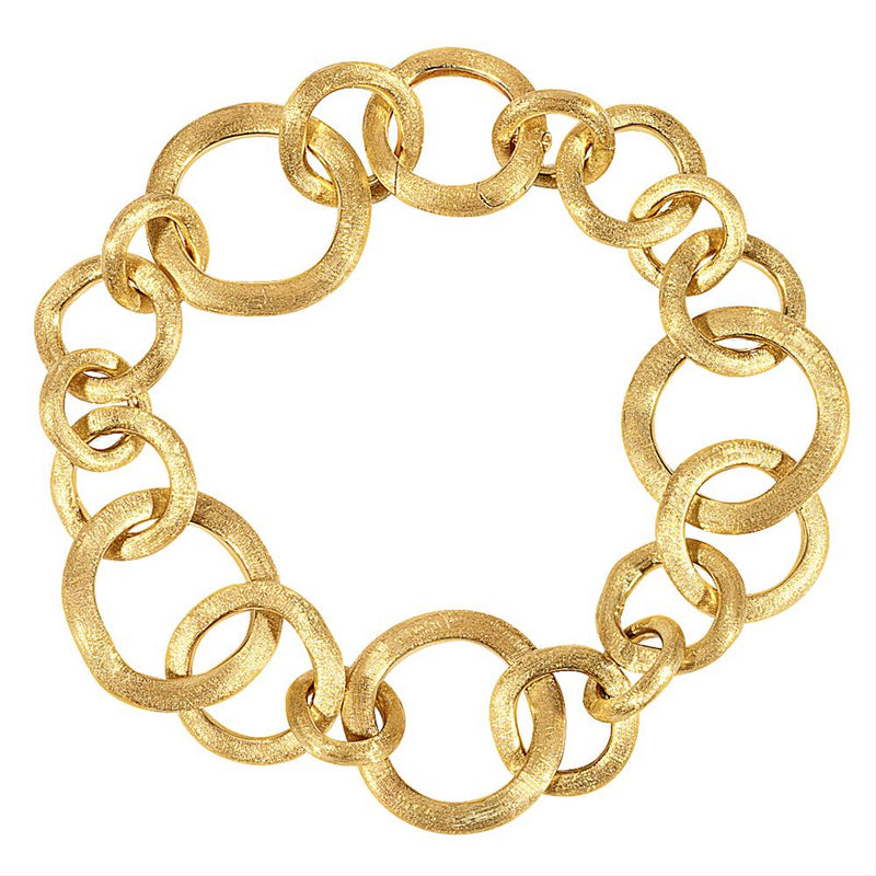 "Marco Bicego 8"" Long 18K Yellow Gold Jaipur Bracelet BB1349 Y"