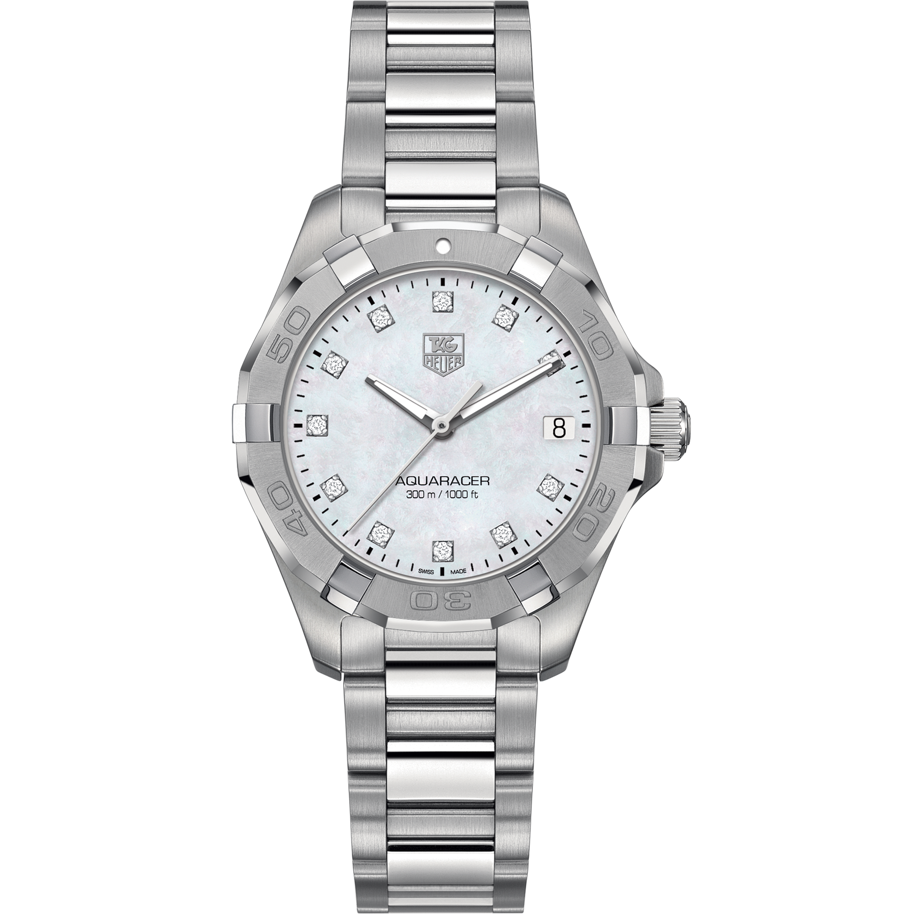 Tag Heuer Ladies Aquaracer Quartz 300M Diamond Edition Watch 32MM WAY1313.BA0915