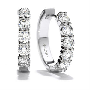 Hearts on Fire Diamond Mini Hoop Earrings 18K White Gold .95ctw
