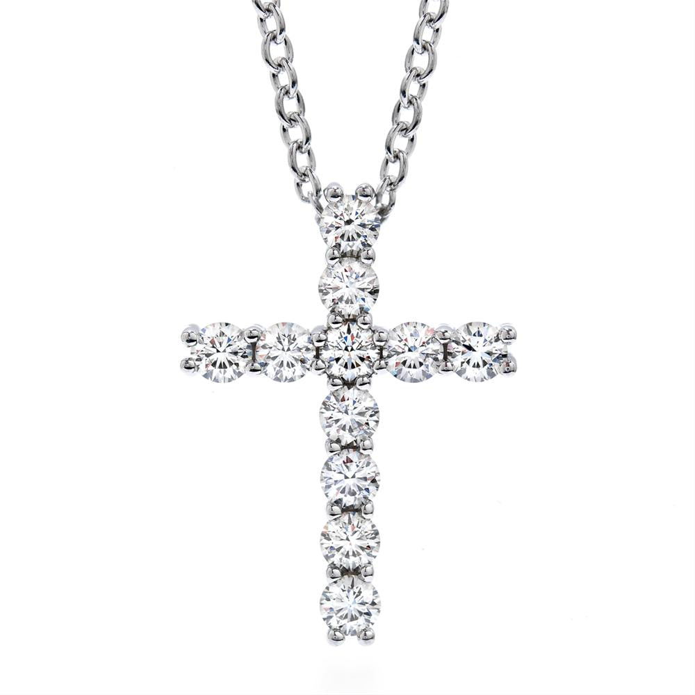 Hearts on Fire Whimsical Diamond Cross Pendant Necklace