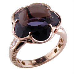 Pasquale Bruni Bon Ton Smoky Quartz & Diamond Rose Gold Ring