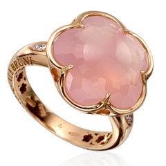 Pasquale Bruni Bon Ton Milky Rose Quartz & Diamond Ring 14807R