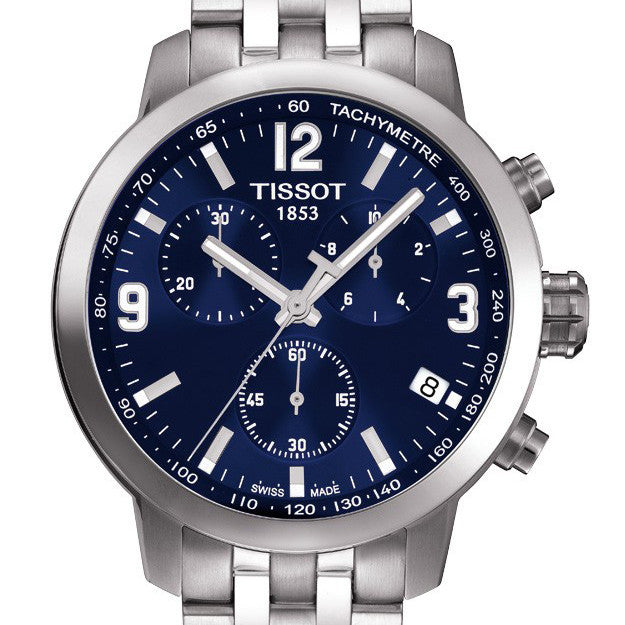 Tissot PRC 200 Quartz Chrono Blue Dial Stainless Steel Watch T0554171104700
