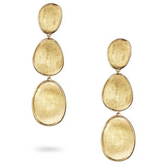 Marco Bicego Lunaria Oval Triple Yellow Gold Drop Dangle Earrings OB1349