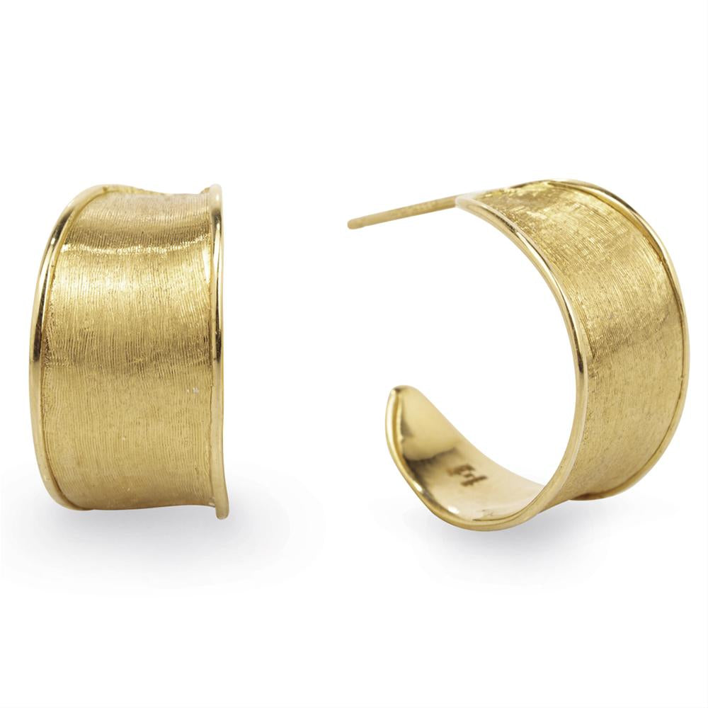Marco Bicego Lunaria 18K Yellow Gold Huggy Hoop Earrings OB1357